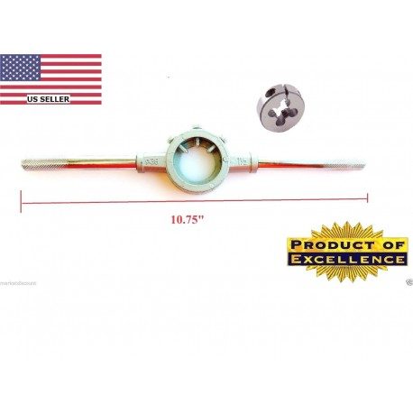 Mosin Nagant Muzzle threading die M15X1 RH M15 x 1.0 w heavy duty stock handle