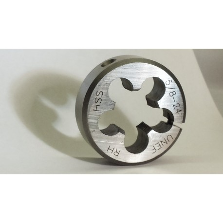Lighthouse quality tools - 5/8-24 RH Adjustable HSS round threading Die