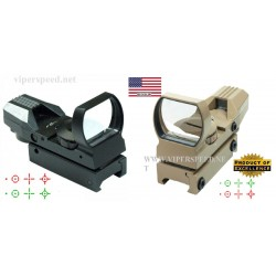 Tactical Holographic Red/Green Dot Reflex 4 Reticle Sight Scope 20mm mount