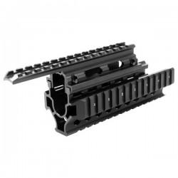 AK Quad Rail Handguard AK accessory Mount - black