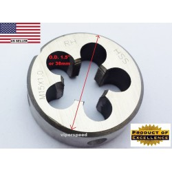 Lighthouse quality tools - M15X1 RH HSS round threading Die - Gunsmith