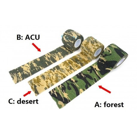 Camo Form Camouflage Gun Gear Self Cling Stretch Wrap