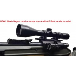 Deltac® Mosin Nagant receiver double rail scope mount with Bolt Handle- Made in USA