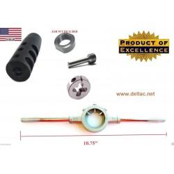 """DELTAC® """"Slingshot"""" muzzle brake for Mosin Nagant - Complete threading kit"""