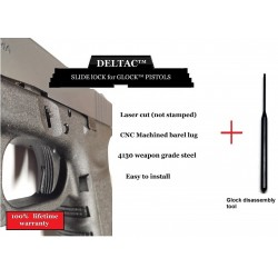 Glock® extended Slide Lock + Pin Removal tool Combo Glock Gen1 to Gen4 - Made by Deltac