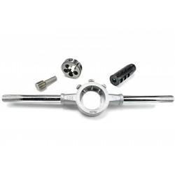 "DELTAC® ""Slingshot"" muzzle brake for 5/8-24RH x7.62Cal - Complete threading kit"