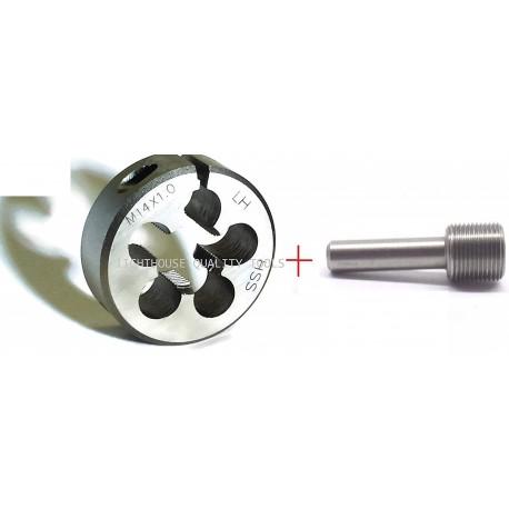 M14X1 LH Adjustable HSS die + Thread alignment tool - Lighthouse Tools®