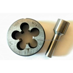 M14X1LH HSS die + Thread alignment tool - Lighthouse Tools®