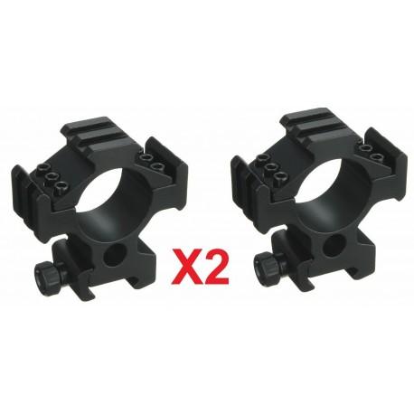 2 pc Tri rail scope mount