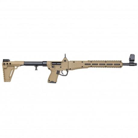 Kel-Tec SUB-2000 9mm Collapsible Rifle Black/TAN 17 RD GLK17 mag