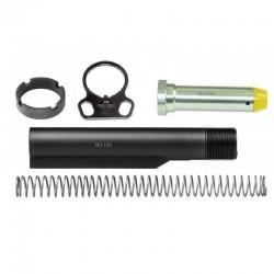 AR-15 M4 Mil-Spec Carbine Buffer Tube Kit Dual Loop Sling Adapter End Plate Black