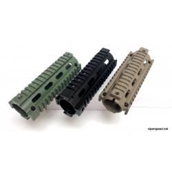 """AR-15 M4 Handguard Carbine Length Quad Rail Hand Guard Rail 6.7"""" inch .223 .556 TAN"""