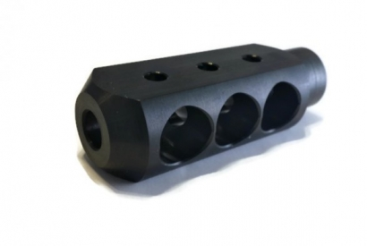 After reducing your Mosin Nagant barrel, you want to add a muzzle brake